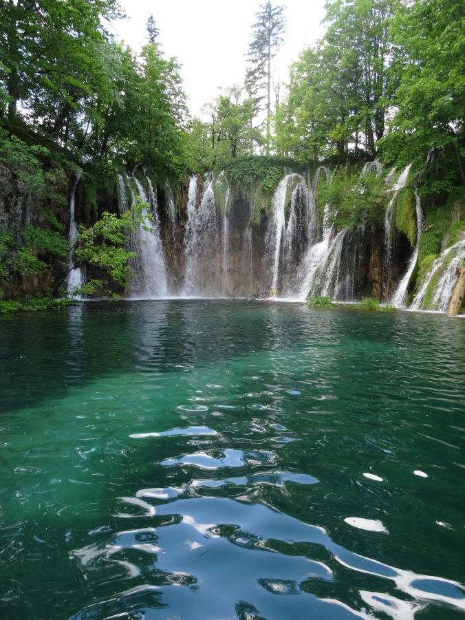 Small waterfalls and lake in Plitvice National Park