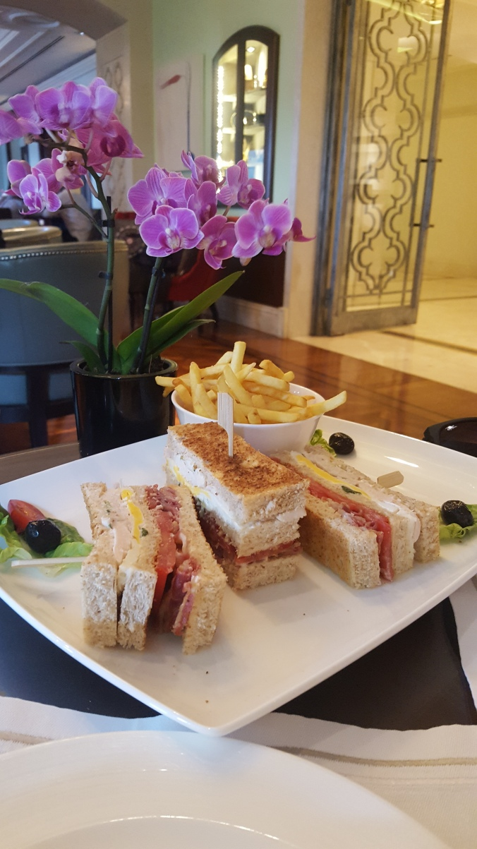 Club sandwich for lunch, Four Seasons Bosphorous