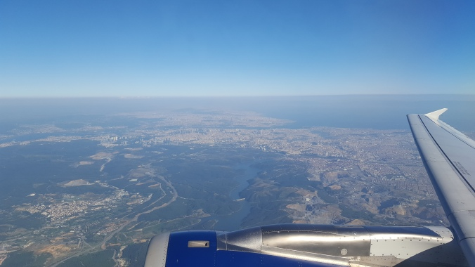 Homeward bound - flying over Istanbul