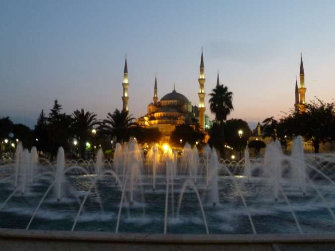 The Blue Mosque, Istanbul at sunset