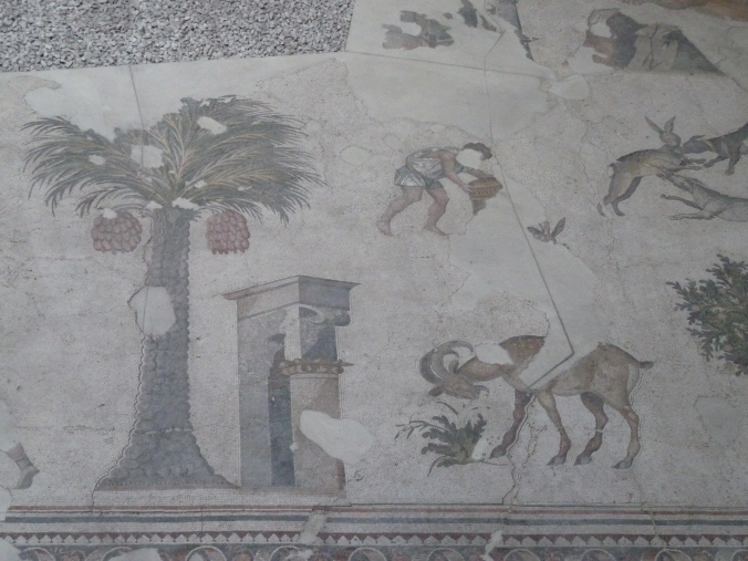 4th century Roman mosaics from the Great Palace Mosaic Museum, Istanbul