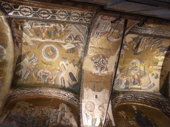 14th century mosaics in the Chora Church, Istanbul