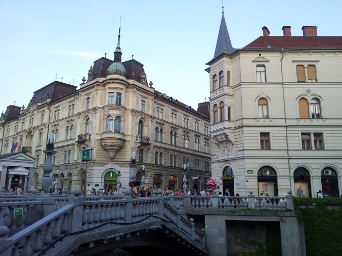 Beautiful architecture in Ljubljana, Slovenia