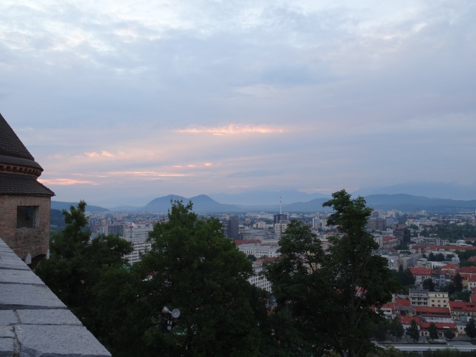 Sunset views from Ljubljana Castle