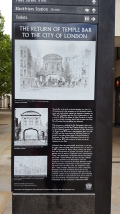 Temple bar information board