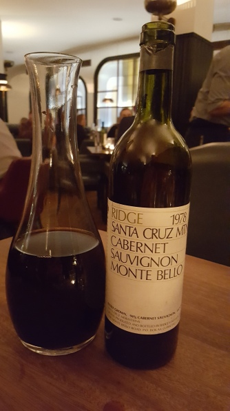 1978 Ridge Monte Bello at Hawksmoor, South Kensington