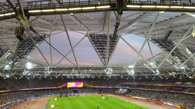 London hosting the World Athletics Championships in the Olympic Stadium