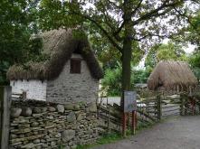 Traditional Swedish farm buildings at Skansen