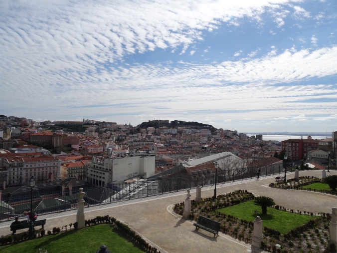 The view over Lisbon's roofs from Miradouro de Sao Pedro
