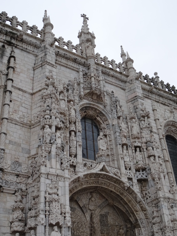Facade of the Church of Santa Maria, Belem in the Manueline style