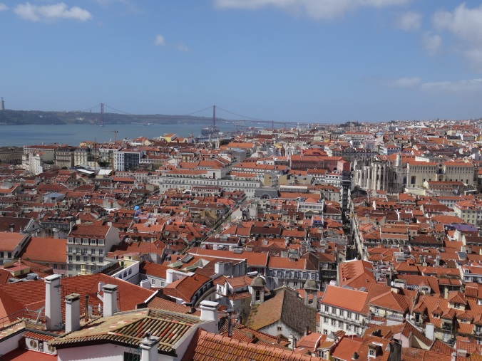 The view over Lisbon and the Targus from São Jorge Castle