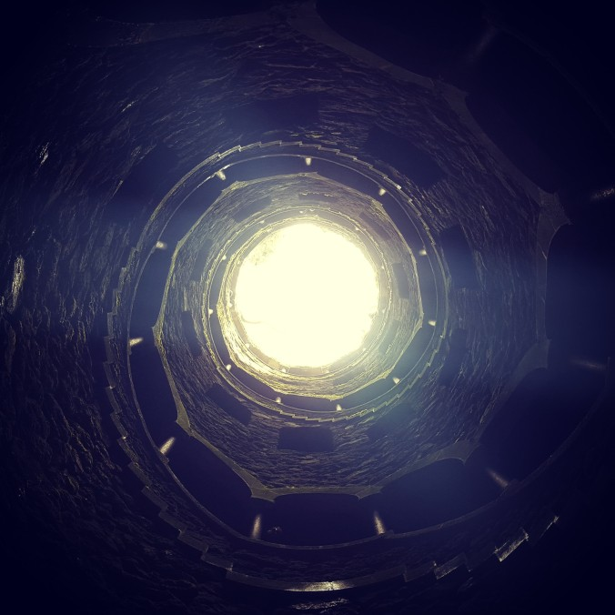 View from the bottom of the initiation well in Sintra