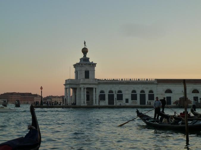 Sunset over Venice's waterways