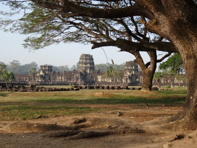 Looking across the vast interior of the Angkor Wat complex