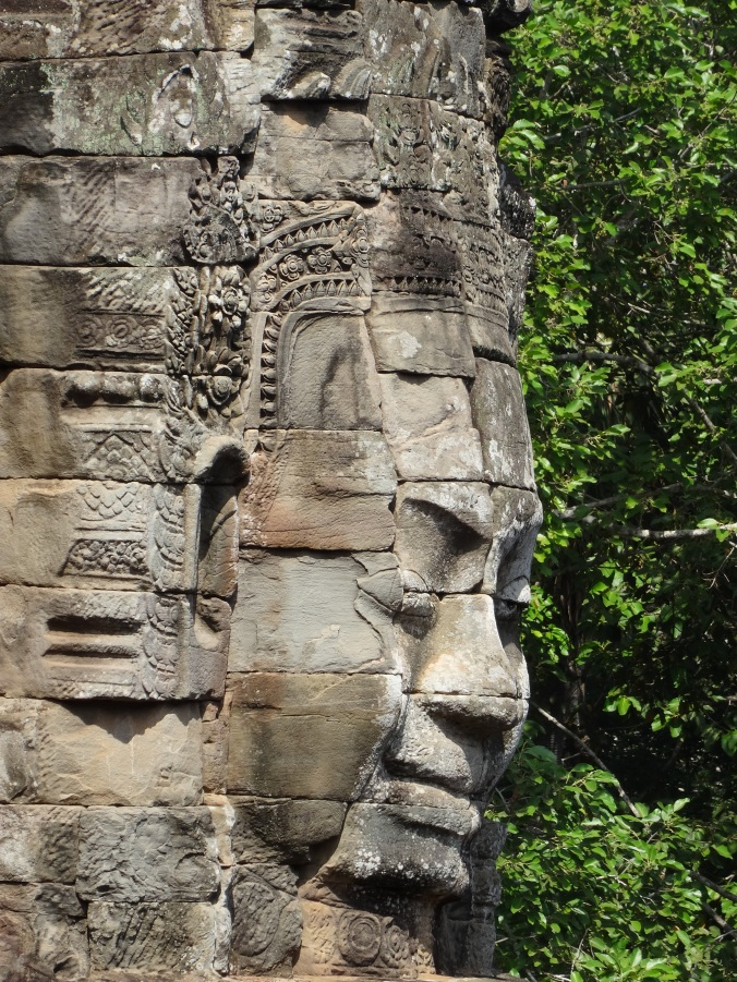 One of Bayon's enigmatic carved faces