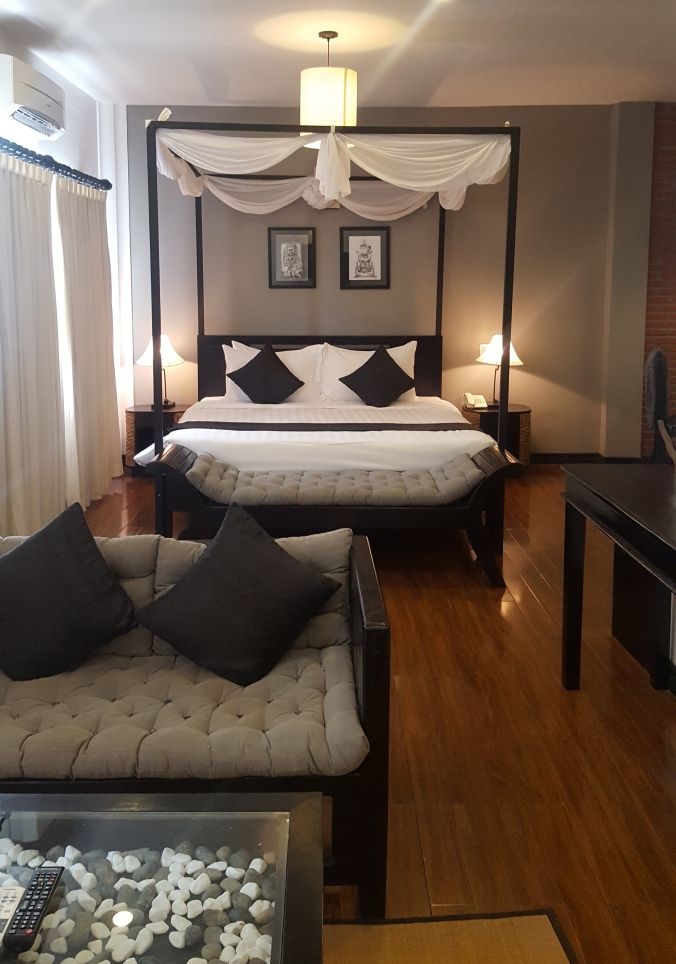 A suite at the Cyclo d'Angkor Boutique Hotel, Siem Reap