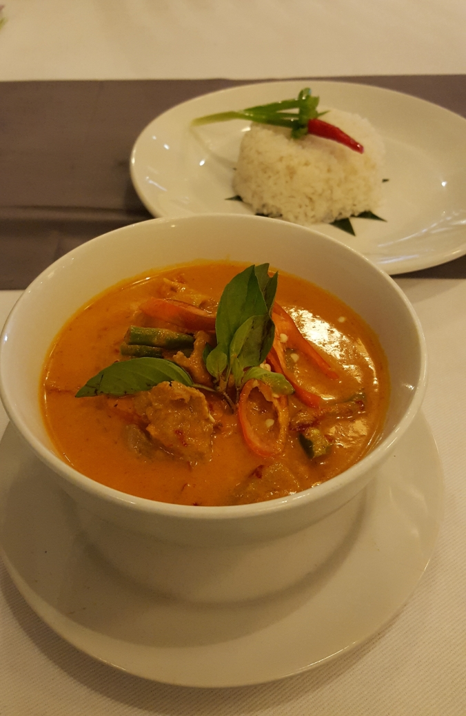 Khmer curry at the Cyclo d'Angkor Boutique Hotel, Siem Reap