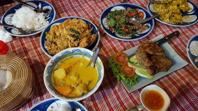 Delicious spread at Khmer Kitchen Restaurant, Siem Reap