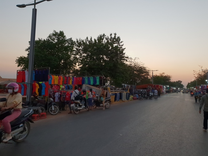 Road 60 Market Siem Reap by sunset