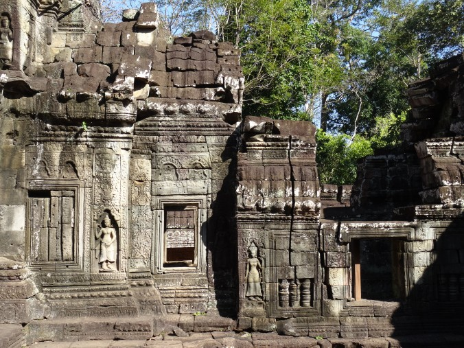 The carved walls of Banteay Kdei