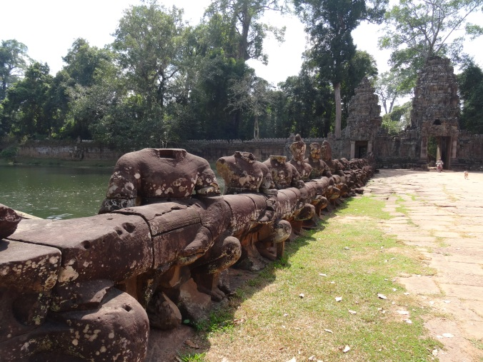 The Churning of the Ocean of Milk outside Preah Khan