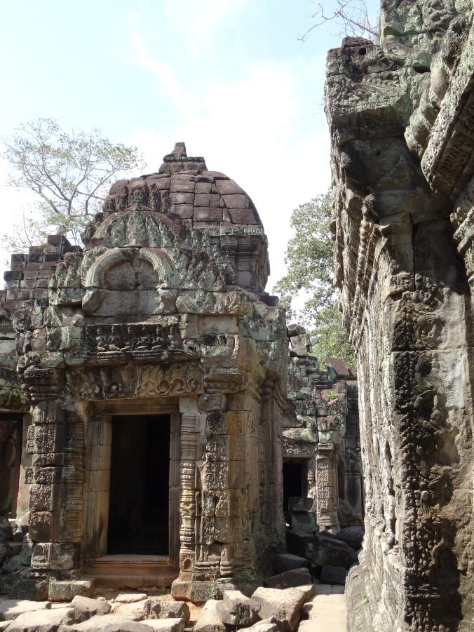 Elaborate carvings inside Preah Khan