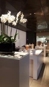 Qatar first and business lounge Heathrow