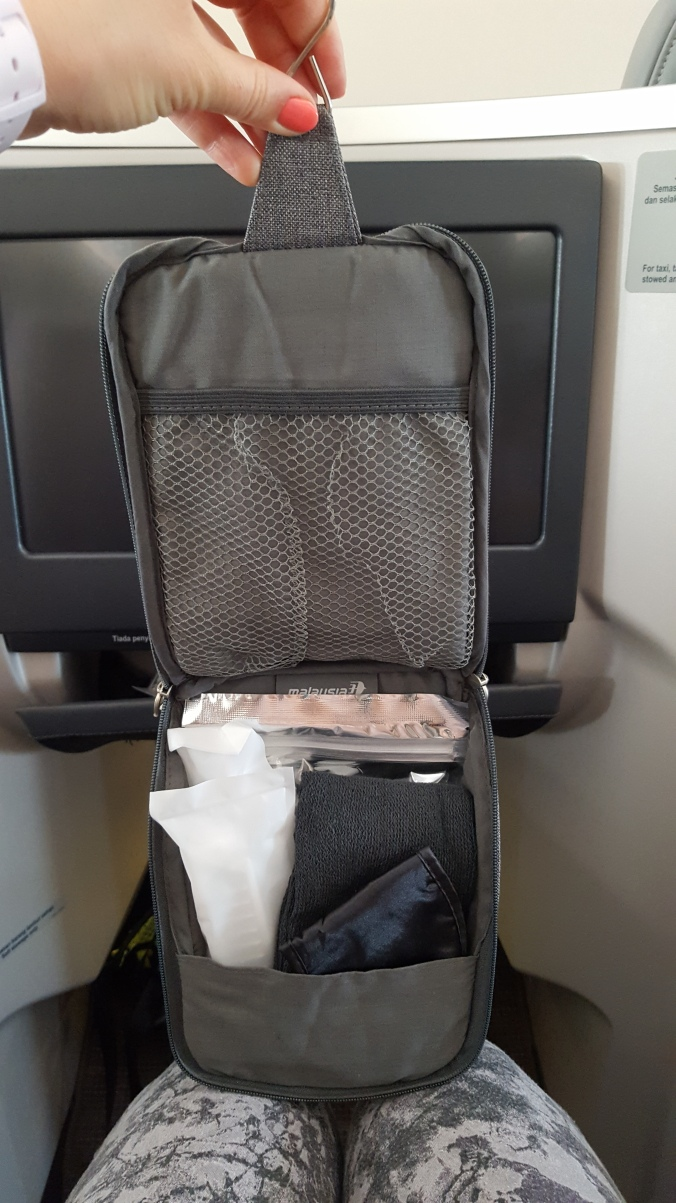 Malaysia Airlines business class amenities kit