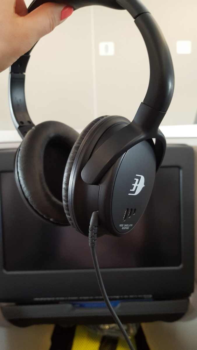 Malaysia Airlines business class noise cancelling headphones