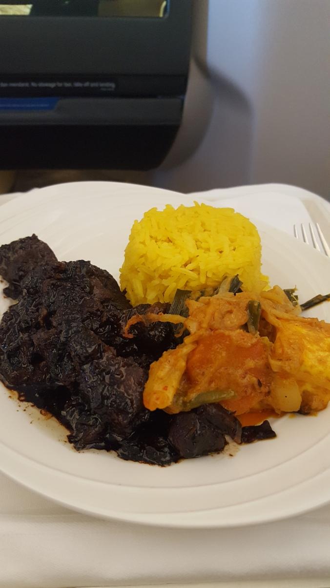 Malaysia Airlines business class Daging Masak Kicap