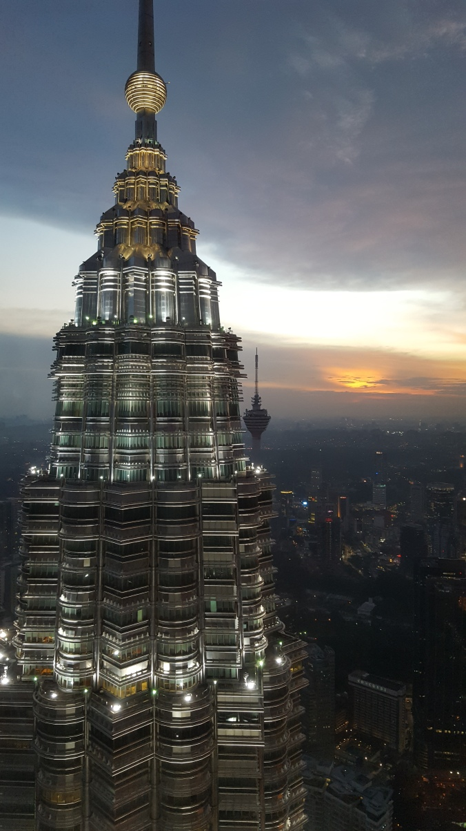 View from the Petronas towers at sunset