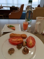Breakfast in the Emirates Lounge, Gatwick