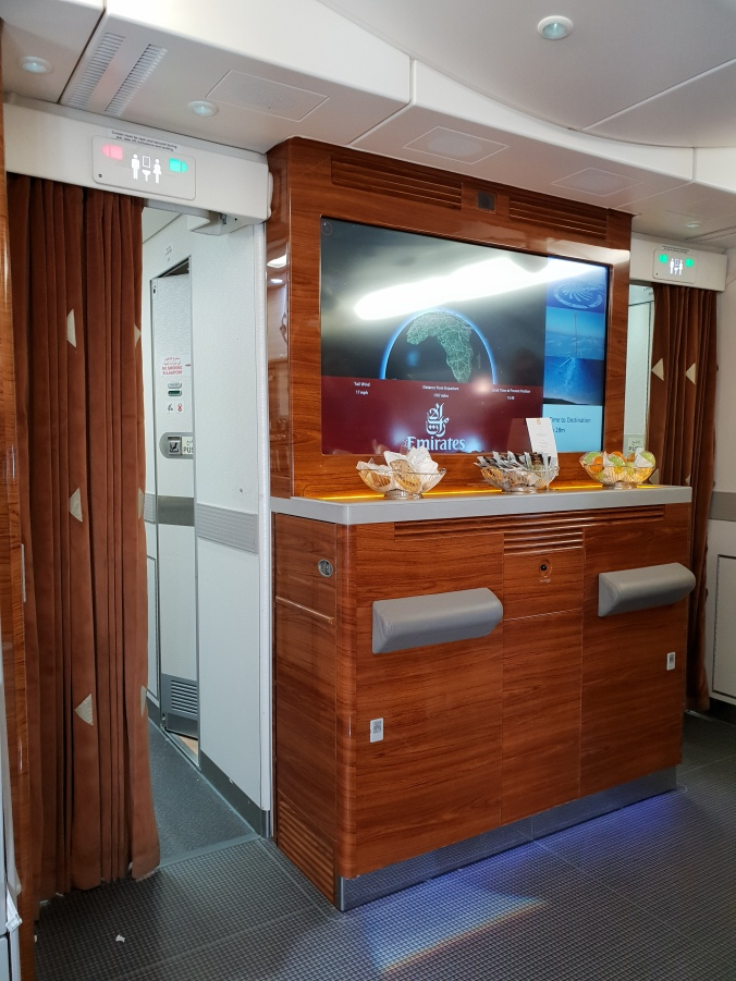 On board bar Emirates A380 Business Class