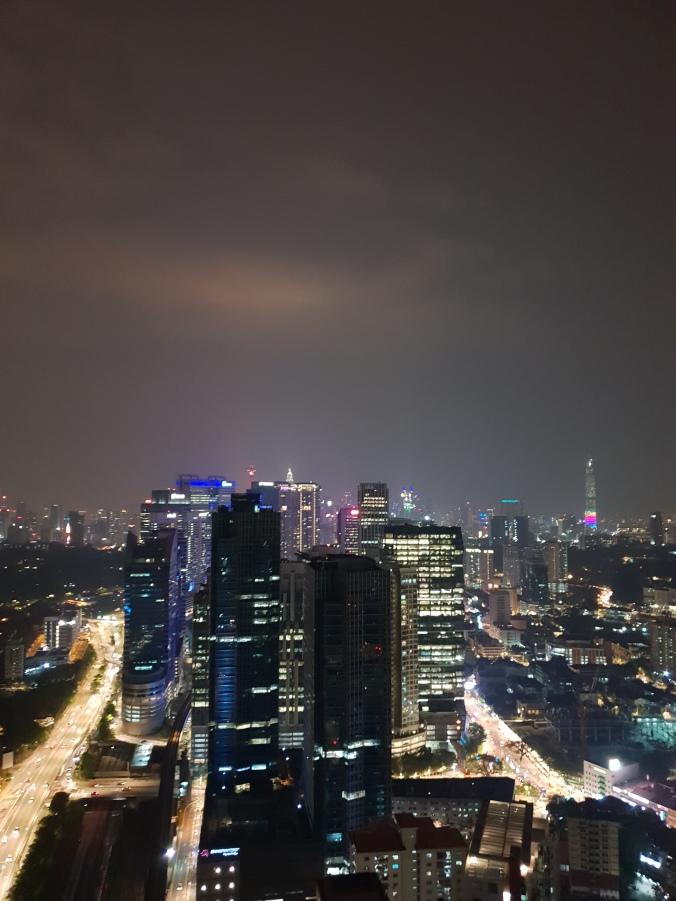 View of Kuala Lumpur from the bar at the Alila hotel, Brickfields, Kuala Lumpur