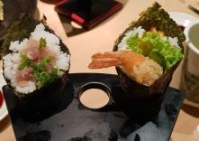 Hand rolls at Sushi Zanmai
