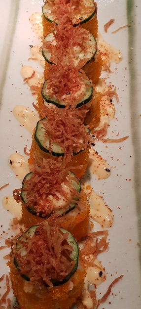 Spicy unagi roll at Sushi Zanmai, Kuala Lumpur