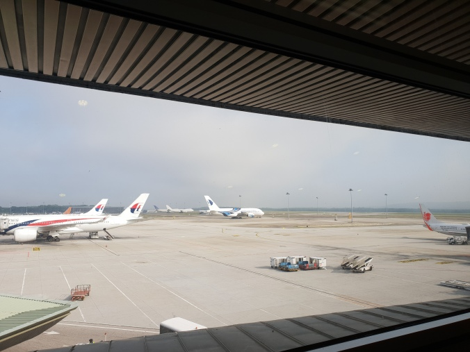 View of the runway from the Emirates Lounge, KLIA