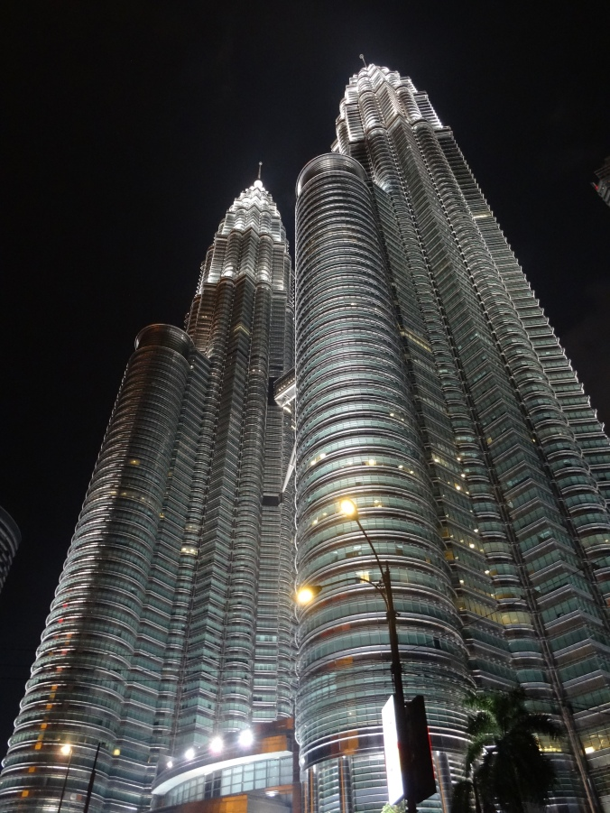 View of the Petronas Towers at night