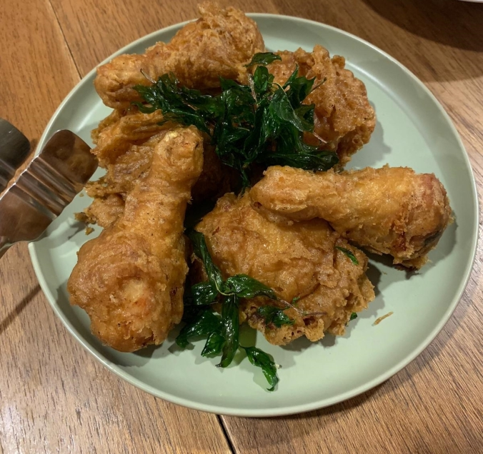 Fried chicken in Table and Apron, Damansara, Kuala Lumpur