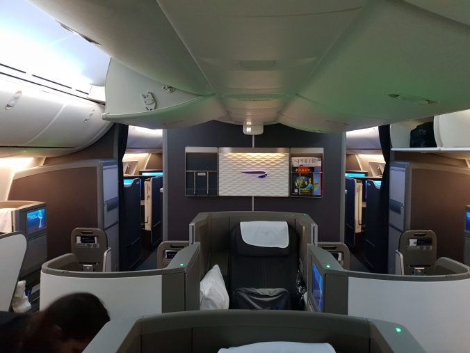 British Airways Club World front cabin