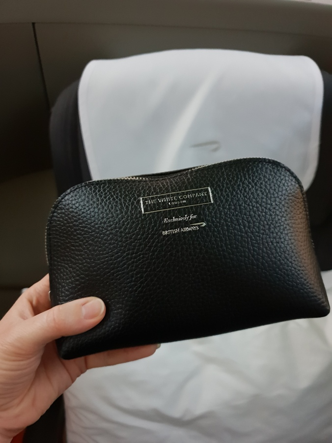 British Airways Club World White Company amenity kit
