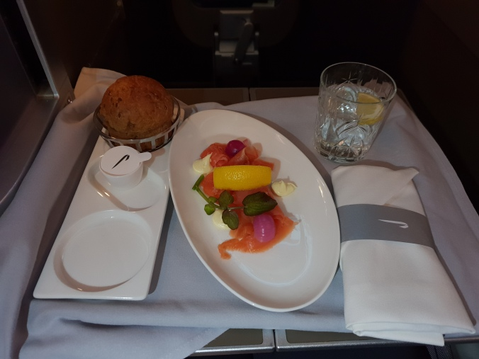 British Airways Club World food