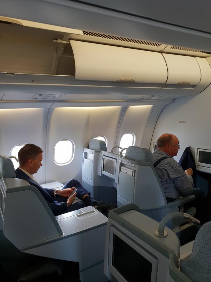 Finnair business class seats A300 seats A and C