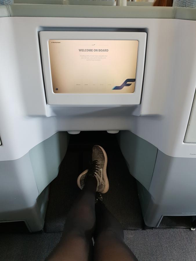 Leg room Finnair A330 business class London to Helsinki