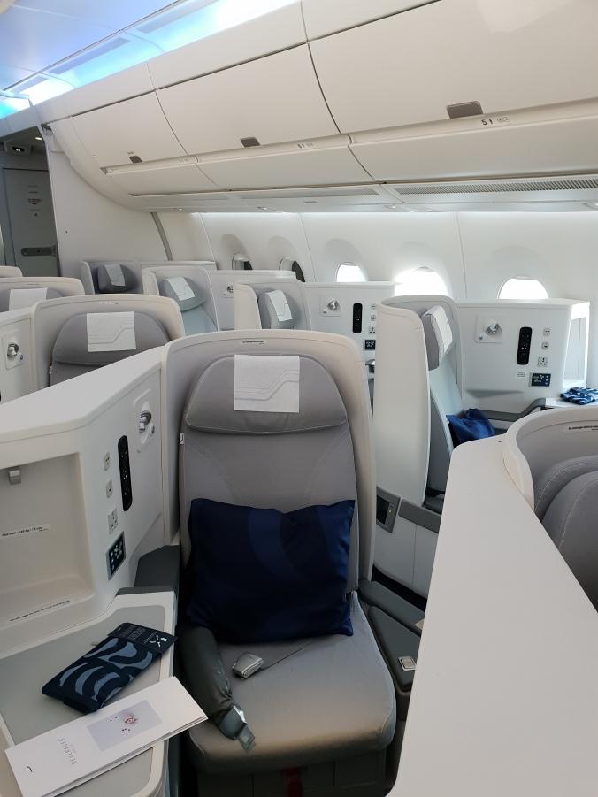 Finnair Airbus A350 business class cabin