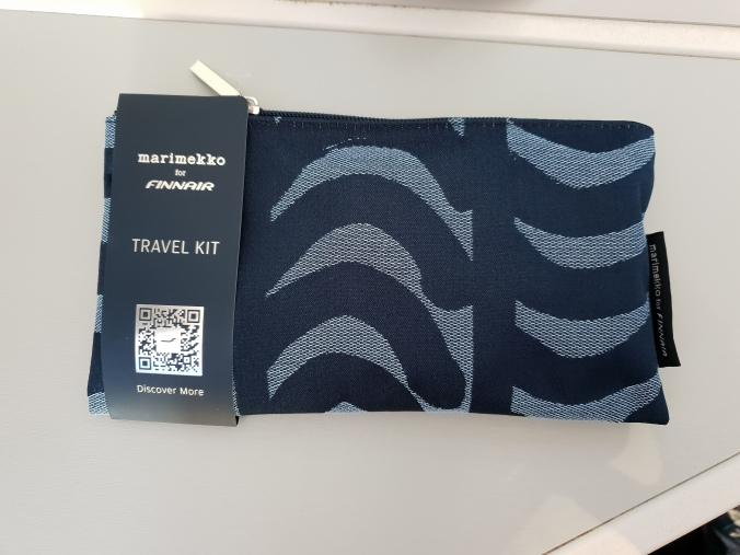 Finnair business class Marimekko amenity kit