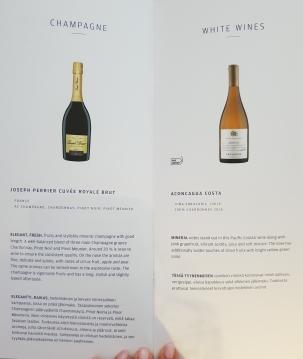 Finnair A350 business class wine list