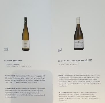 Finnair business class drinks