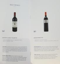 Finnair business class drinks list - red wine
