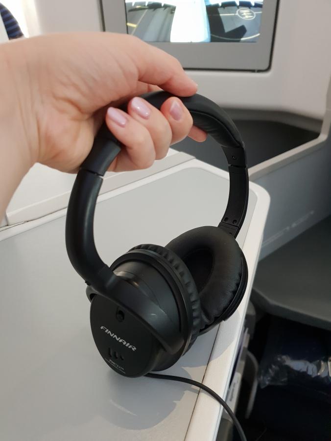 Finnair business class headphones